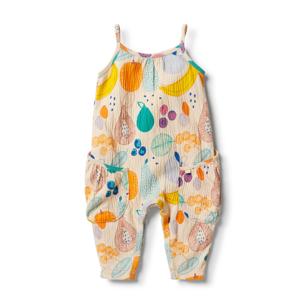 Wilson & Frenchy Fruit Loop Crinkle Slouch Jumpsuit