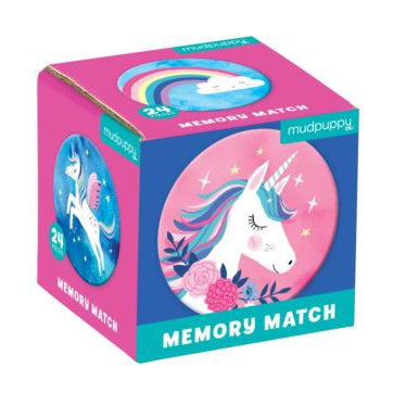 Mudpuppy Mini Memory Match Game - Unicorns