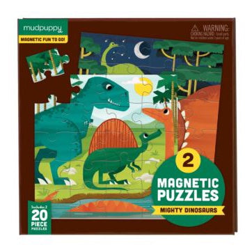 Mudpuppy Magnetic Puzzle - Dinosaurs