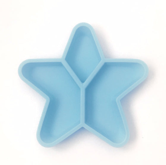 Little Woods Star Grazer Silicone Divided Plate - Blue
