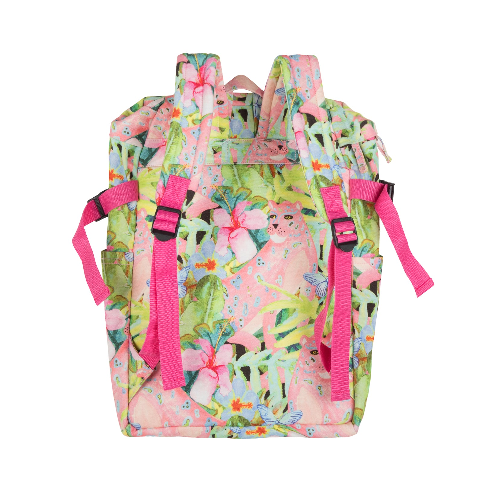 Paper Wings Compact Backpack - Pink Leopard