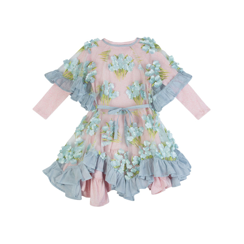 Paper Wings Embroidered Tulle Frill Dress