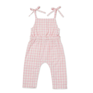 Walnut Indie Gingham Jumpsuit