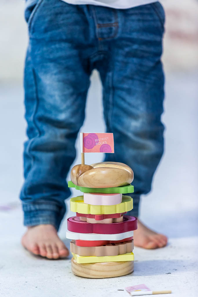 Make Me Iconic Toy Stacking Burger