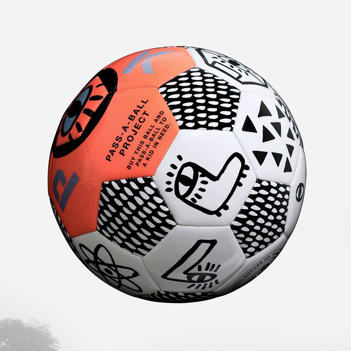 PARK Social Soccer Ball - Neon Orange
