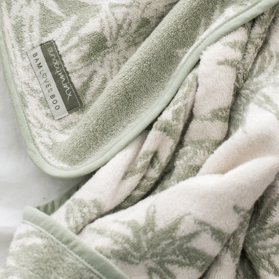 Sunday Minx Hooded Baby Towel - Palm