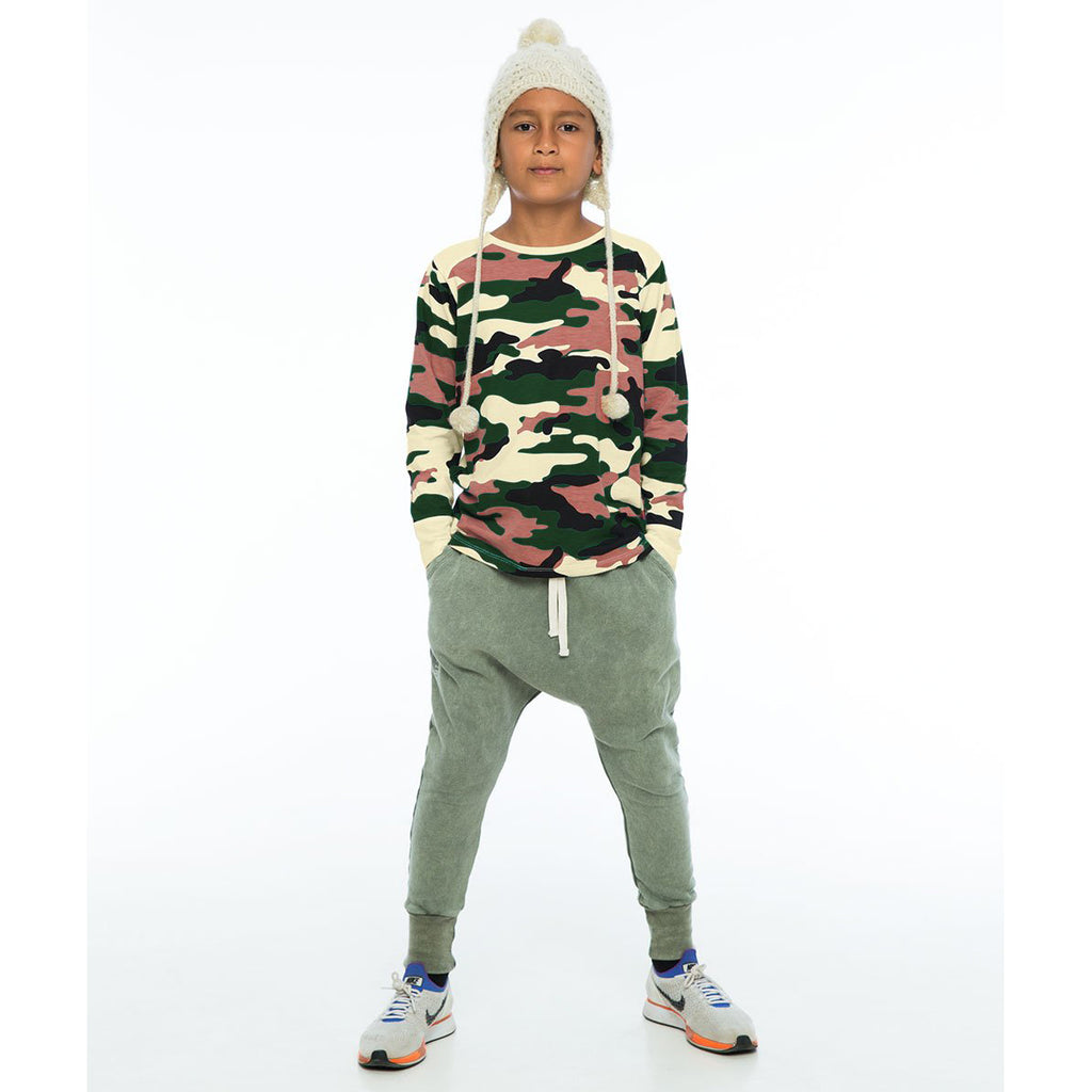 Zuttion Low Crotch Track Pants - Army