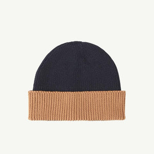 Summer & Storm Cotton Beanie - Navy/Tan