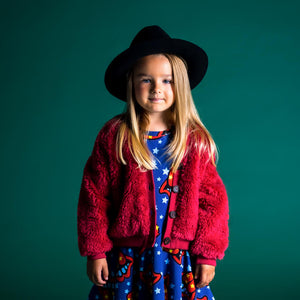 Rock Your Kid Red Sherpa Cardigan