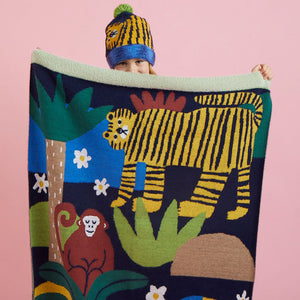 Halcyon Nights Hide And Seek Fluffy Knit Blanket