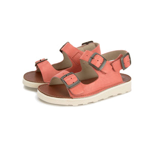 Young Soles Spike Leather Sandal - Coral