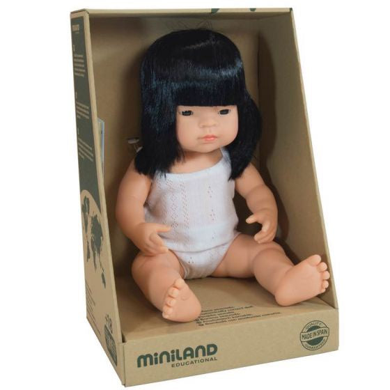 Miniland Baby Doll - Asian Girl 38cm
