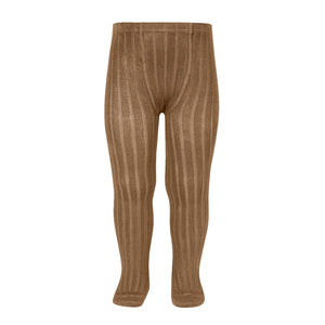 Condor Ribbed Tights - Toffee