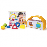 Lalaboom Shape Sorter & 8PC Beads
