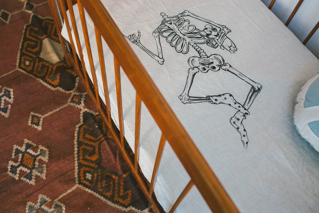 "Dazed but Amazed ""Lazy Bones"" Fitted Cot Sheet"