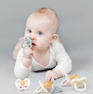 Hevea Round Coloured Pacifiers - 0-3M