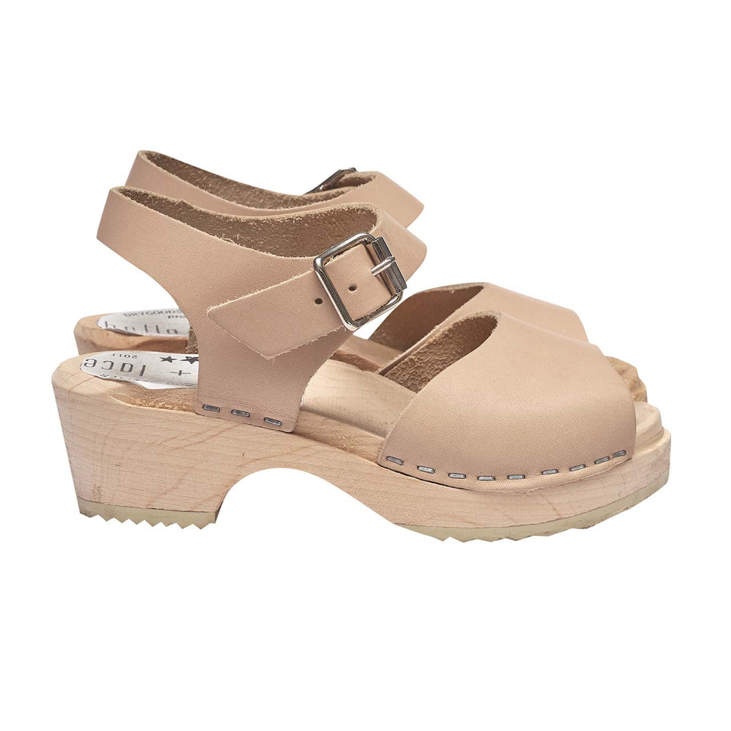 Bella & Lace Heidi Clog Sandal - Natural