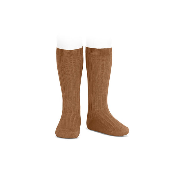 Condor Ribbed Knee High Socks - Toffee