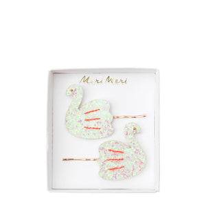 Meri Meri Hair Slides - Swan