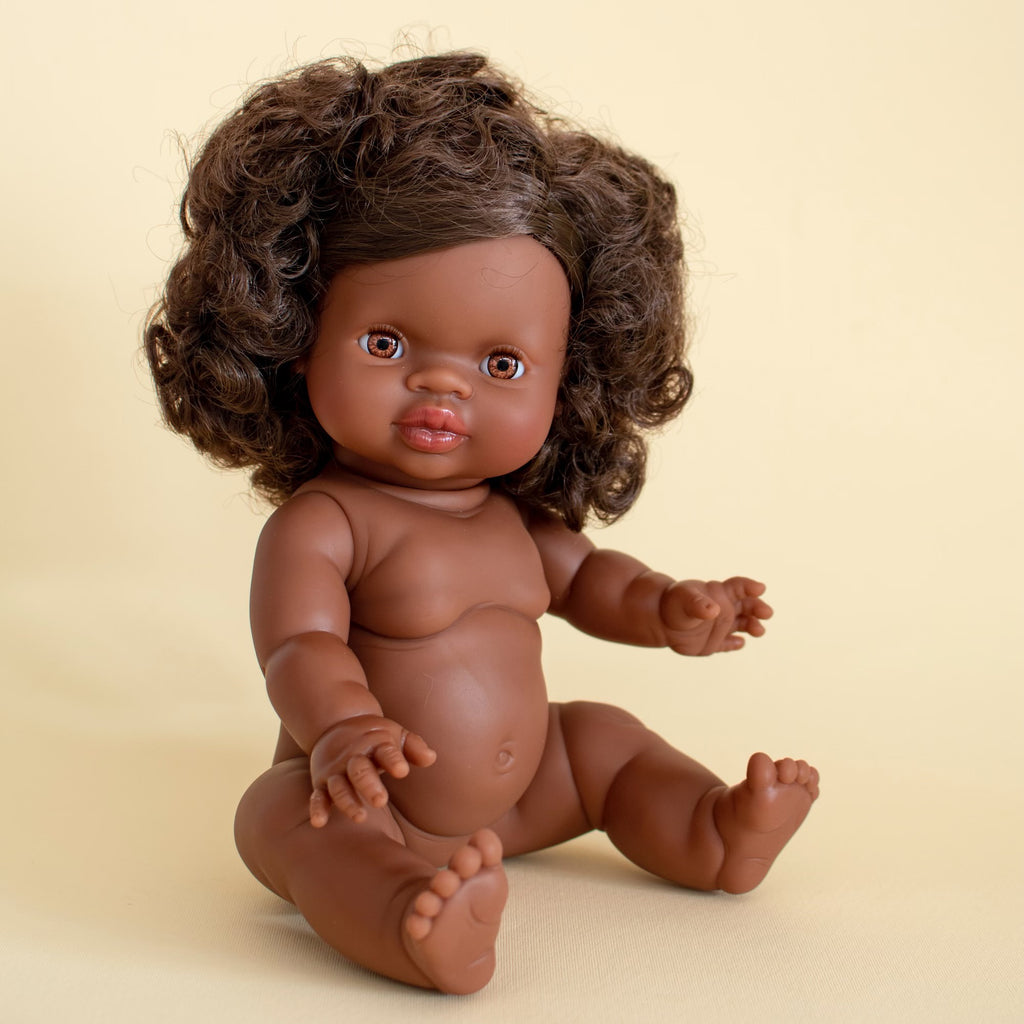 Paola Reina Gordis Doll African Girl Brown Hair 34cm - Marley