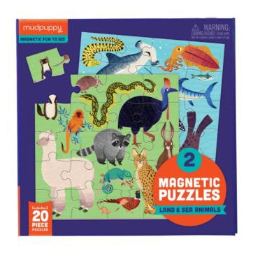 Mudpuppy Magnetic Puzzle - Land & Sea