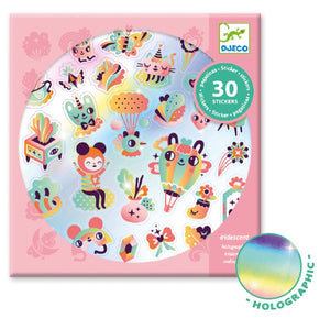 Djeco 30pc Lovely Rainbow Stickers
