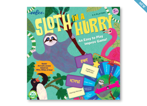 EeBoo Sloth in a Hurry Board Game