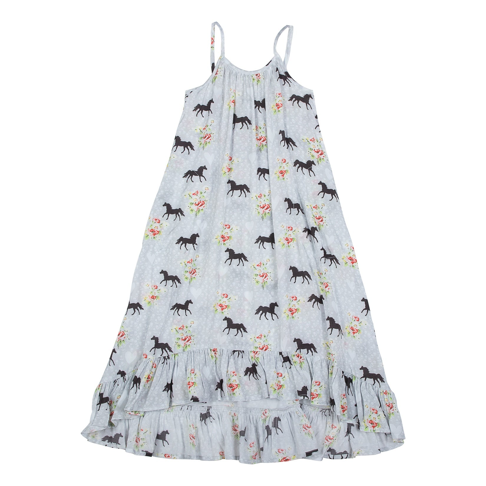 Paper Wings Frilled Maxi Dress - Spring Horse