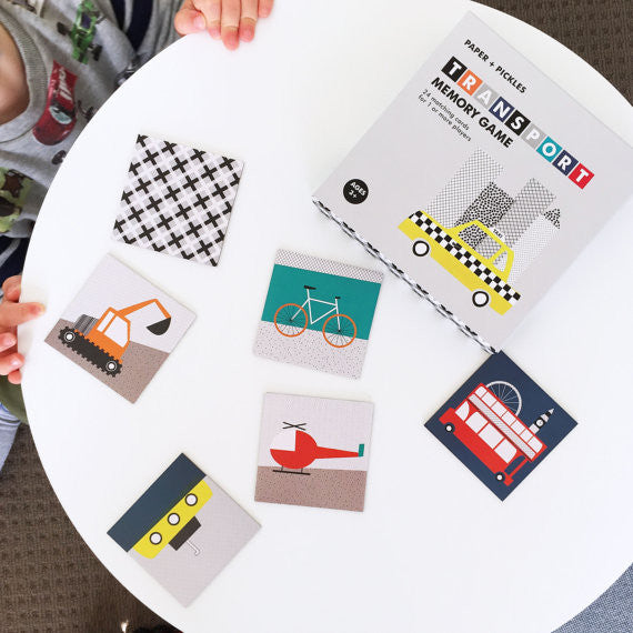 Paper and Pickles Transport Memory Game