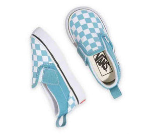 Vans Toddler Checkerboard Slip-on V Delphinium Blue