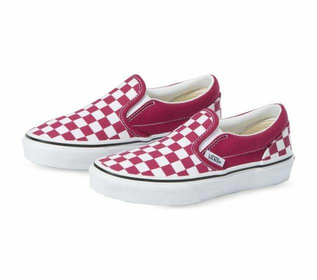 Vans Kids Classic Slip-On Checkerboard - Cerise/True White