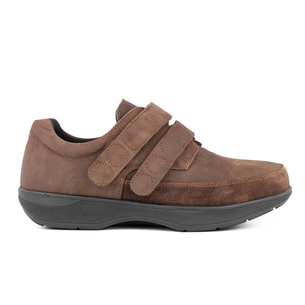 NEW FEET Brun oiled skind stretch og velcro,