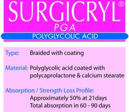 SURGICRYL® PGA: Absorbable Sutures - Tieren Medical Supply (Pty) Ltd - 1