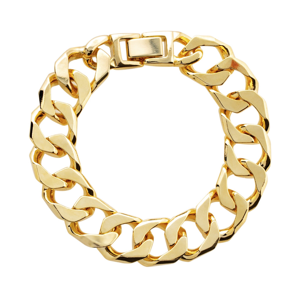 Chunky chain bracelet in yellow gold
