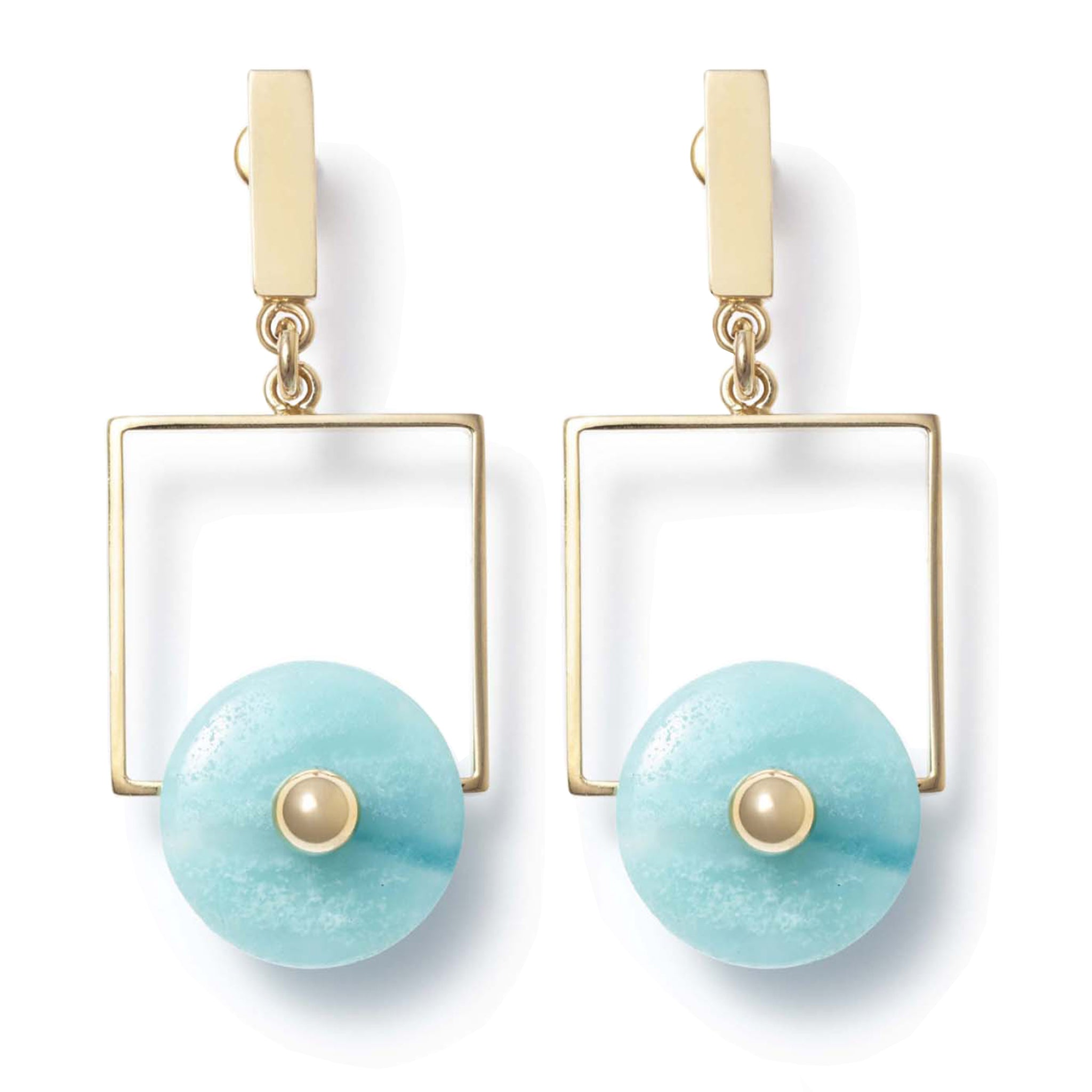 Earrings with amazonite