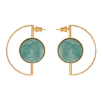 Earrings with amazonite for pierced ears