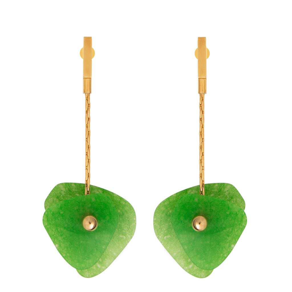 Earrings with Malaysian jade