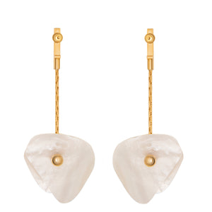 Earrings with mother of pearl for pierced ears
