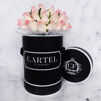 LIGHT PINK FRESH BLOOMS Black Box (VIC, Australia Only)