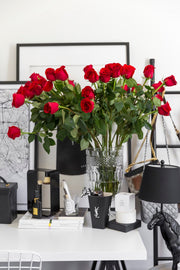 LONG STEM FRESH RED ROSES White Box (VIC, Australia Only)