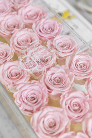 Large Acrylic Box with mirror base. Choose your rose colour (FREE GIFT WRAPPING!)