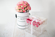 Medium Acrylic Box - Choose your rose colour. (Available Worldwide)