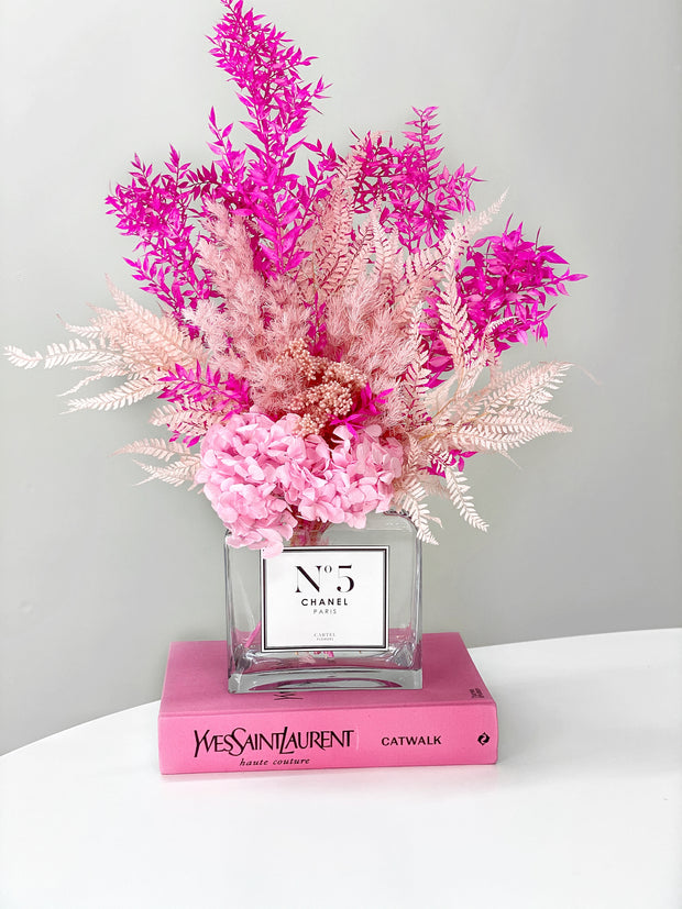 (Blooms only) Forever Arrangement | 'Pink Mix'