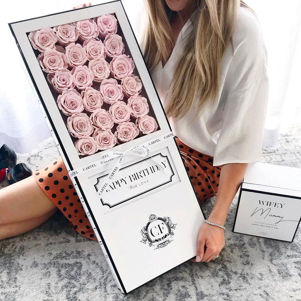 LASTING ROSES Long Box - Choose your colour.