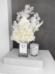 Monochrome Vase with Dried Blooms