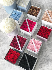 LASTING ROSES Gift Box - Choose your colour. (Available Worldwide)
