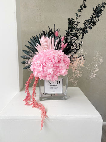 Forever Arrangement + Vase | 'Bold Pink Mix'