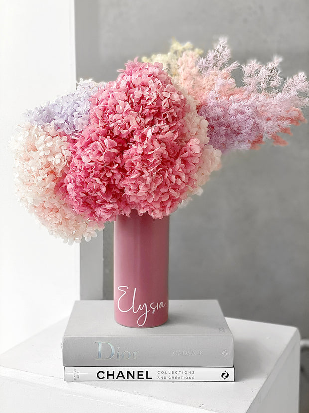 "Limited! ""I Love Mum"" Blooms in Personalised Vase"