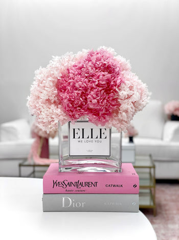 Forever Hydrangeas + Vase | 'The Perfect Pinks'