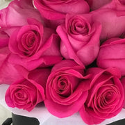 HOT PINK FRESH BLOOMS Black Box (VIC, Australia Only)